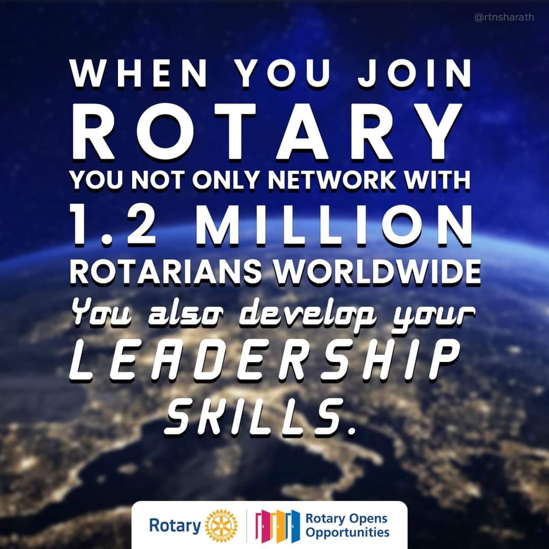 When you join rotary